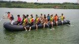grande barca di passeggero gonfiabile di 8m con il pavimento del compensato per trasporto