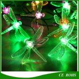 30 de Lichten van het Koord van de LEIDENE 6m Macht van de Libel Zonne maken Lamp voor Openlucht Binnen waterdicht