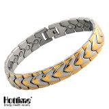 Bracelet d'aimant d'acier inoxydable d'équilibre de Boday avec la pierre de l'énergie 4in1