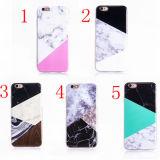 Caisse du marbre TPU de mélange de contraste de couverture de téléphone mobile pour l'iPhone 7