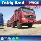 Verwendeter 6X4 HOWO Lastkraftwagen mit Kippvorrichtung des verwendeten Kipper-Kippers