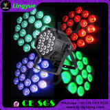Lampe d'intérieur de PARITÉ de l'éclairage DEL d'étape de 18X18W RGBWA+UV DMX