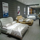 Klassisches Entwurfs-Schwarz-Leder-Sofa-Bett mit Kristall-Schlafzimmer-Set-Hotel-Möbel-Wohnzimmer, Fb3072