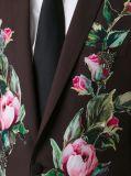 人のためのあつらえの標準的な花のステッカーのスーツ