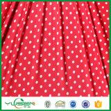 Полька печати ставит точки ткань Spandex для платья