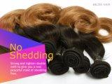 Glücks-Haar-brasilianisches Jungfrau Ombre Brown zwei Ton-Farben-Haar 18inch
