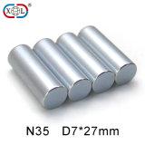 Aimant rond de placage de zinc de cylindre
