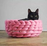 Haustier-Zubehör stricken Haustier-Hundebett-Matten-Fabrik mit der Hand
