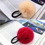 Nette Kaninchen-Pelz-Großhandelskugel-elastische Haar-Bänder