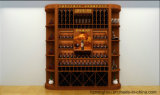 Adega de vinho personalizada vintage da madeira contínua para a mobília de madeira Home