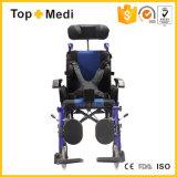 Cadeira de rodas de reclinação manual das crianças Foldable da paralisia cerebral para deficientes motores