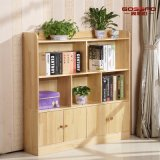 Bookcase спальни детей самомоднейшей конструкции твердый деревянный (GSP9-033)