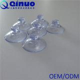 Cuvette en plastique transparente d'aspiration de vide de tête de champignon de couche de vide intense fait sur commande d'usine de Qinuo