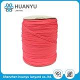 Corde tressée tissée par polyester élastique de estampage chaude de type