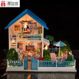 Grande casa de boneca de madeira bonito do brinquedo DIY
