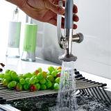 Tir in giùare il rubinetto del dispersore di cucina della molla