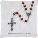 Rosaire en bois de talons, talons religieux rosaire, rosaires (IO-cr348)