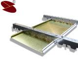 Tipo decorativo techo decorativo de aluminio de la pieza inserta de Construnction de la tira de la madera