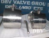La oblea de acero forjado y la brida de tres vías Válvulas de bola