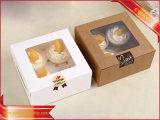 昇進のギフト用の箱のクラフト紙ボックスパッキング菓子器