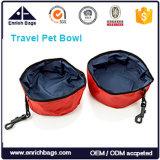 Agua plegable Bowal del perro de animal doméstico del tazón de fuente plegable del alimento