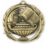 Medalla de encargo con el blanco en el centro y la cinta de transferencia térmica