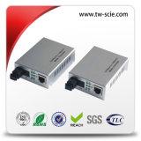 シングルモードLCポート20kmのサポートのフロー制御のファイバー媒体のコンバーター