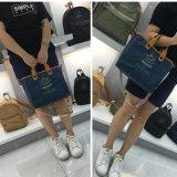 Señora impermeable lavada azul Handbag (16A086-4) del papel de Kraft