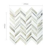 Strato di vetro grigio e bianco Herringbone delle mattonelle di mosaico per il raggruppamento