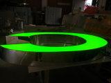 옥외 외부 정면 Lit Facelit는 3D 차원 플라스틱 Acryic 녹색 LED에 의하여 분명히된 표시 채널 편지를 날조했다