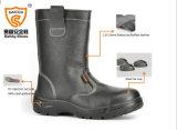 Apparatuur van de Laarzen van de Veiligheid van het Werk van de Mijnwerker van de misstap de Bestand Zwarte Persoonlijke Beschermende