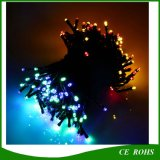 La cadena solar colorida al aire libre de 100 lámparas LED del LED enciende luces impermeables del día de fiesta del jardín solar de hadas de la Navidad