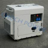 Генератор двигателя дизеля 5.5kw одиночного цилиндра звукоизоляционный портативный