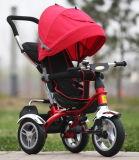 Passeio dos miúdos do impulso da roda da criança 3 de Trike do carrinho de criança da bicicleta do passeio dos miúdos no triciclo
