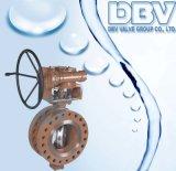 Soupape de Buttefly posée par métal excentrique triple bi-directionnel d'industrie