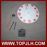 Sublimación del reloj de pared de cristal de la decoración del hogar de la promoción de la Navidad