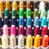 резьба 1000mts вышивки вискозы 40W Multi-Color 100%