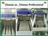 普及した台所装置のステンレス鋼の商業永続的なガスのフライヤー