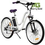 36V 250With350With500W elektrisches Kreuzer-Fahrrad für Damen mit anerkanntem En15194