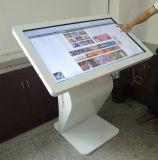 LCD 위원회를 서 있거나 Touchscreen 또는 영상 선수 접촉 스크린 간이 건축물을 광고하는 55 인치 지면