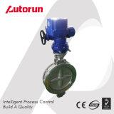 Válvula de mariposa eléctrica de Wenzhou del fabricante del doble ventilación china del borde de la ex
