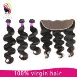 Extensiones del pelo de la onda de la carrocería de la armadura del pelo humano de la alta calidad