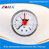 Mini indicateur de pression normal axial avec la flèche indicatrice fixe rouge