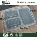 Qualitäts-Wegwerf3 Partition-Nahrungsmittelbehälter mit luftdichtem Verschluss (9698)