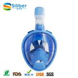 Máscara 2017 de venda quente do Snorkel da face cheia do silicone de Amazon para os miúdos fáceis à máscara do mergulho da respiração