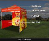 ماء [بووف] ثقيلة يطوي خيمة لأنّ عمليّة بيع سوق