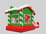 Opblaasbaar het Springen van het Thema van Kerstmis Kasteel voor Partij