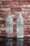 Botella de 750 ml por encargo del vidrio esmerilado del agua con la impresión