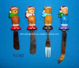 Распространитель с ручкой медведя смолаы для украшения рождества