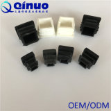 10-50mmの黒い円形の正方形のプラスチックステンレス鋼の管付属品